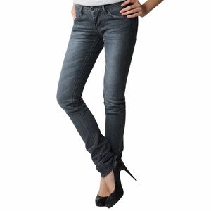 WESC Eve 5 Pocket Black Rinse Stretch Skinny Jeans